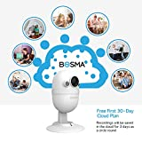 BOSMA CapsuleCam-S Baby Monitor, Smart WiFi Baby Camera 1080P HD with 2-Way Audio, Night Vision, Sound Alerts, Motion Detection, Cloud Service Available for Elder/Pet, Compatible with iOS/Android