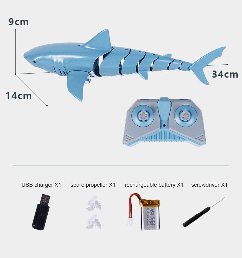 Toys & Games Watercraft gaixample.org ALXDR Remote Control Shark ...