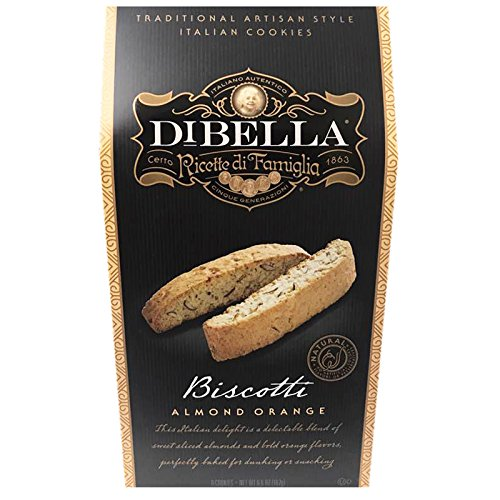 - Dibella Traditional Artisan Italian Biscotti Cookie 6.6oz (Almond Orange)