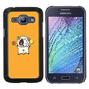 YiPhone /// Prima de resorte delgada de la cubierta del caso de Shell Armor - d divertida lyagushka rana - Samsung Galaxy J1 J100