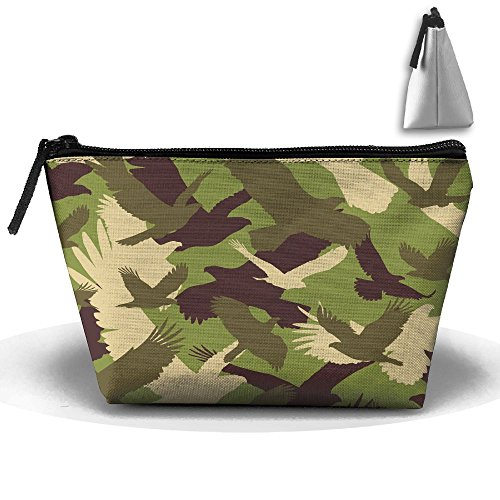 VIMUCIS Portable Printed Trapezoid Zippered Bag Camouflage Dove Toiletry - Shopping Bella Thorne