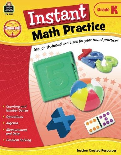Instant Math Practice, Grade K