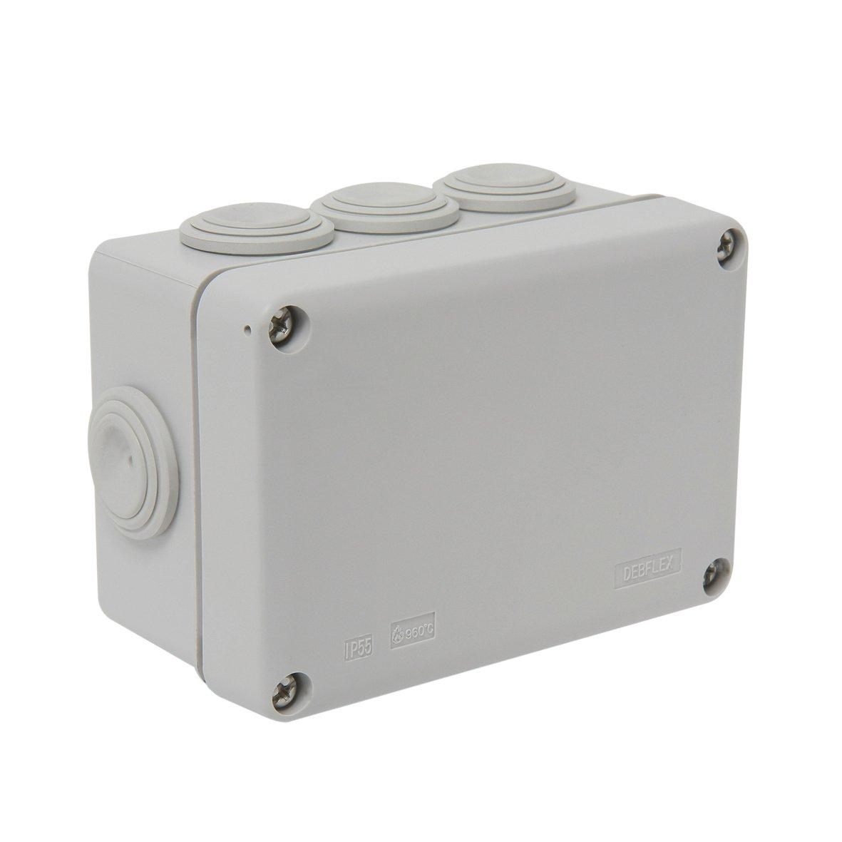 Debflex 718040 Junction Box IP55 110 x 80/P50 Grey
