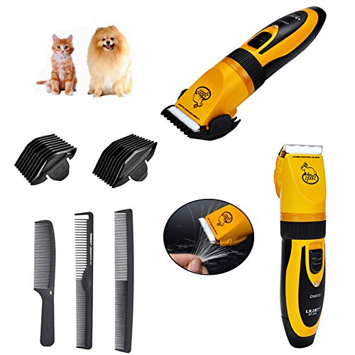 ezage Pet Hair Grooming Clipper Cordless Kit for Dogs Cats Rechargeable Electric Trimmer Low-Noise Animal Razor Shaver global4outlet
