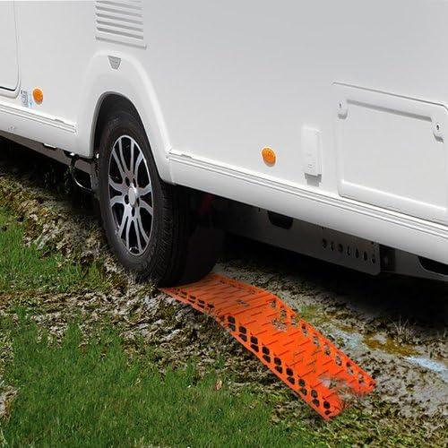 Pkw Gaosheng 2 St/ück Anfahrhilfe faltbar Set faltbares Kunststoff-Sandblech f/ür Wohnmobil Gel/ändewagen