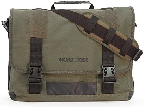 17.3-Inch Eco-Friendly Canvas Messenger Bag, Green (MECME9)