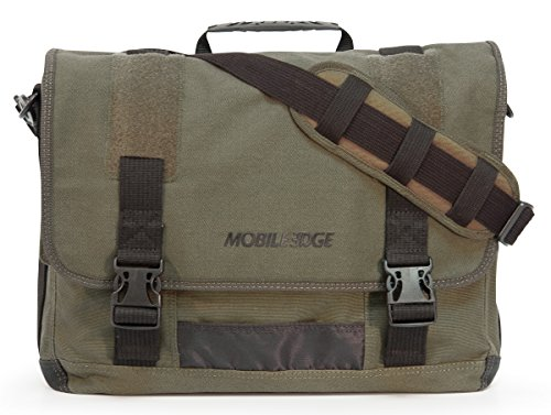 Mobile Edge ECO Laptop Messenger for Laptops up to 17.3-Inch (Green) (Eco Messenger Canvas Friendly)