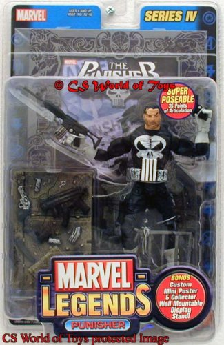 Marvel Legends Punisher Variant Silver Foil Poster Series IV