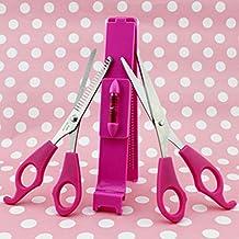 EDTara Professional DIY Forehead Hairdressing Scissors Set Bangs Cutting Pruning Scissors Clipper Fringe Cut 3Pcs/set
