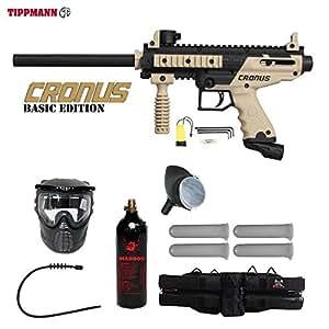 Tippmann Cronus Basic Tactical Silver Paintball Gun Package - Black / Tan