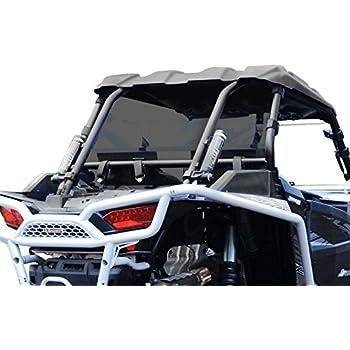 SuperATV Heavy Duty Dark Tint Rear Windshield for Polaris RZR XP 1000 / Turbo / 1000 4 / Turbo 4 - Easy to Install!