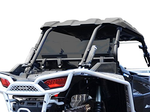 SuperATV Heavy Duty Dark Tint Rear Windshield for Polaris RZR XP 1000 / XP 4 1000 (2014+) - Easy to Install!