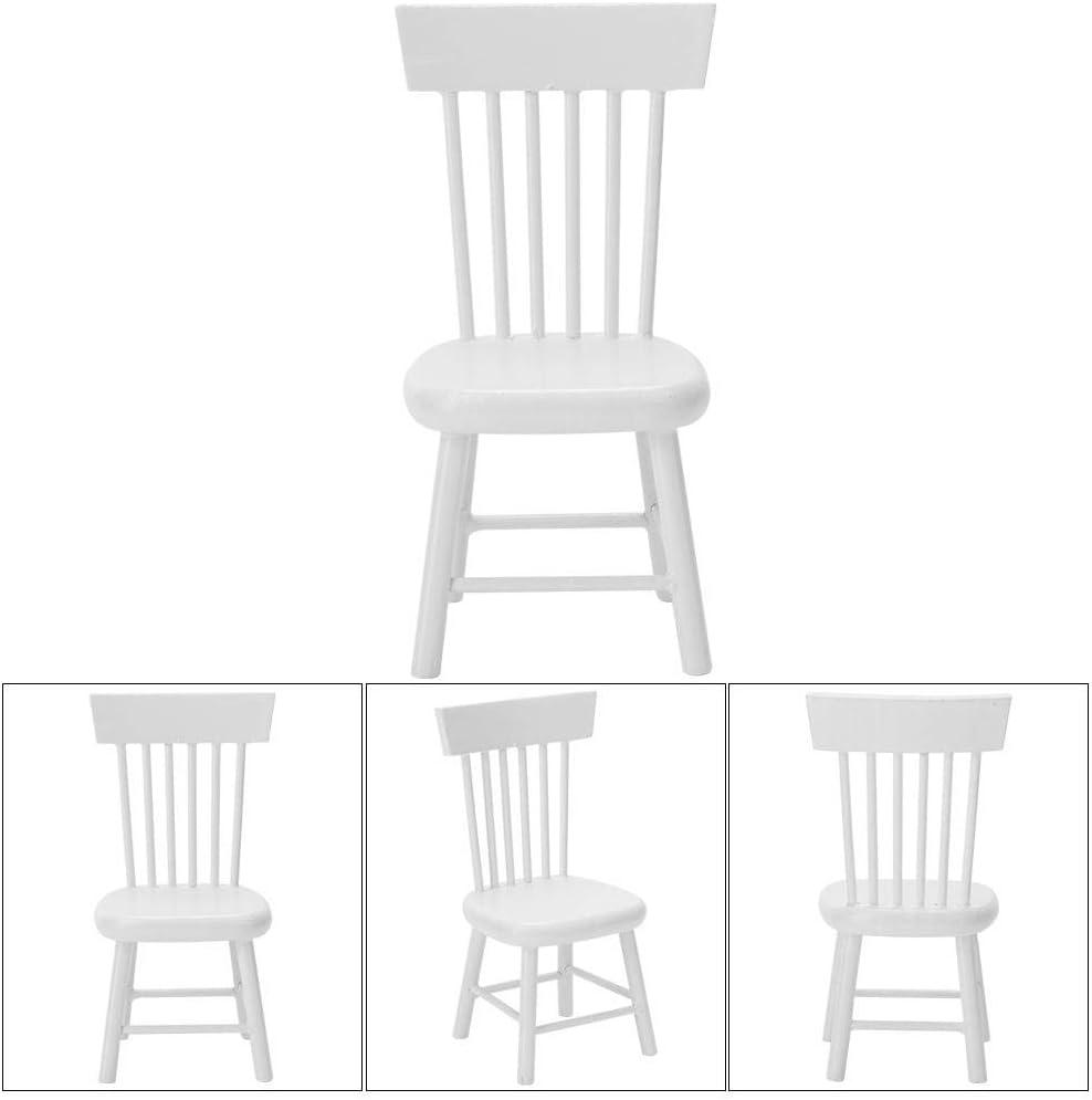 Mini Poupees Et Accessoires Mootea Chaise De Maison De Poupee Bois Couleur Modele De Mobilier Miniature Chaise De Salle A Manger En Bois Pour 1 12 Maison De Poupee Accessoire Meubles De Maison De