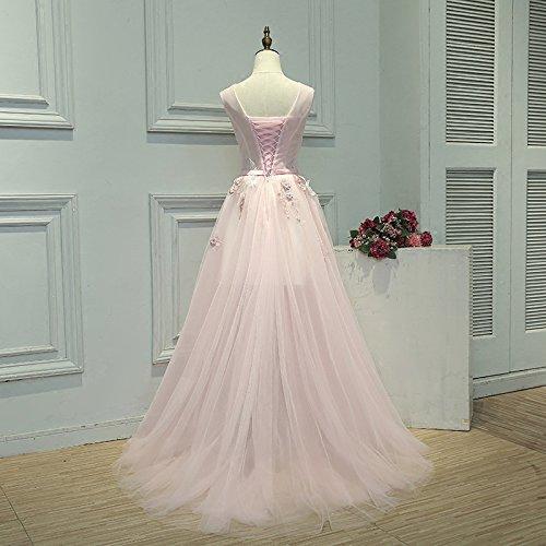 De Soir La Partie Mariée Appliques Longue De En V Robe Banquet Sun COU Rose Goddess 8 Du Doux 8 Robe Dentelle Robe Robe Nouvelles tRwwaqZ