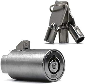 Vending Machine Lock Keyed Alike Coke Machine Lock Snack Machine Lock Candy Machine Lock Soda Machine Lock, 3Pcs Keys