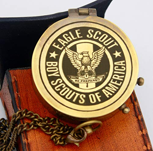 De Cube Customized Boy Scouts Gift Compass with Leather case, for Eagle Scout, Boy Scouts of America, Graduation, Eagle Ceremony (Boy Scout Compass Non-perseonalised)