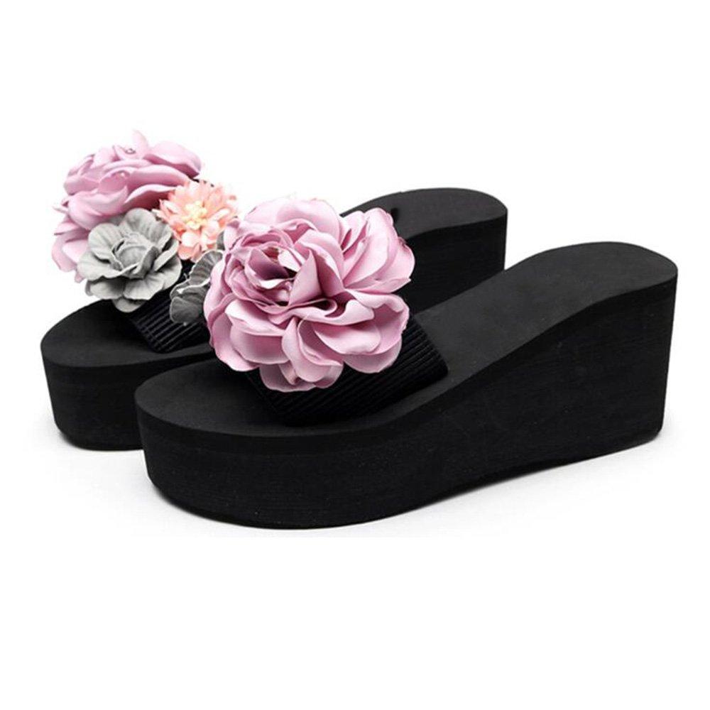 Sandali femminili con tacchi alti, scarpe da spiaggia con fondo spesso, sandali esterni antiscivolo ( Colore : 1 , dimensioni : EU38/UK5.5…