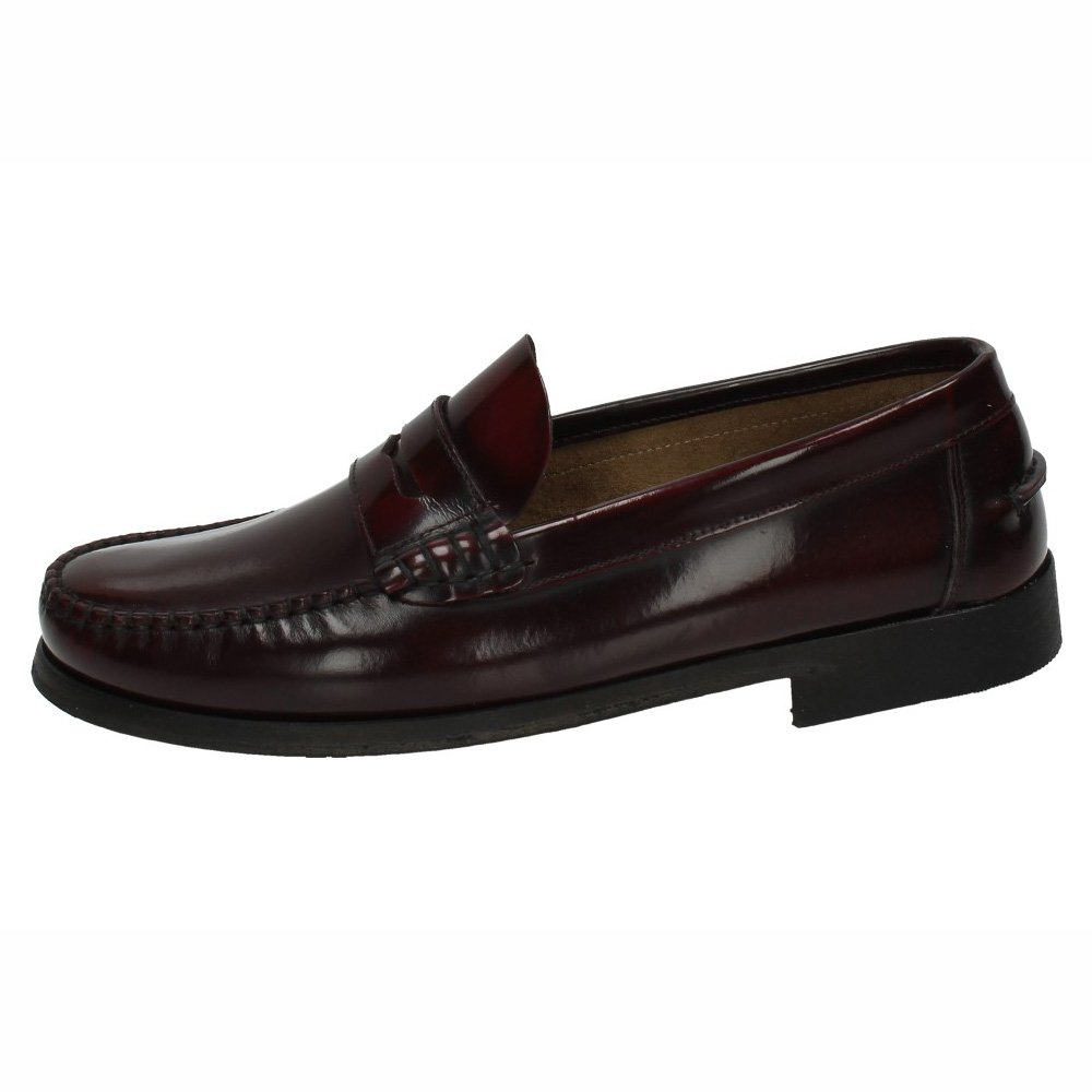 Made IN Spain 701 Zapatos Castellanos Hombre Zapatos MOCASÍN 44 EU Burdeos