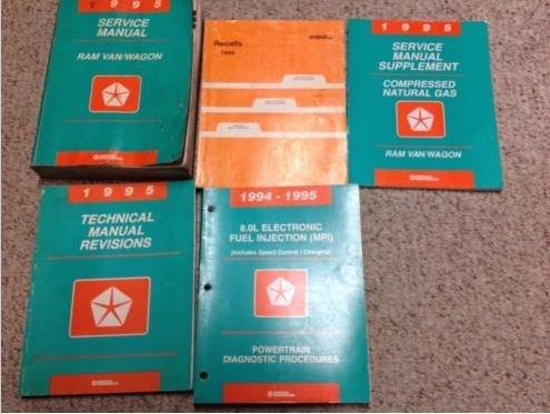 1995 DODGE RAM VAN WAGON Service Repair Shop Manual Set W Recalls + Supplement x -