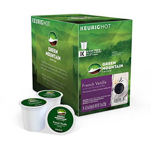 Green Mountain Coffee Keurig Single-Serve K-Cup Pods, French Vanilla Light Roast Coffee, 24 Count