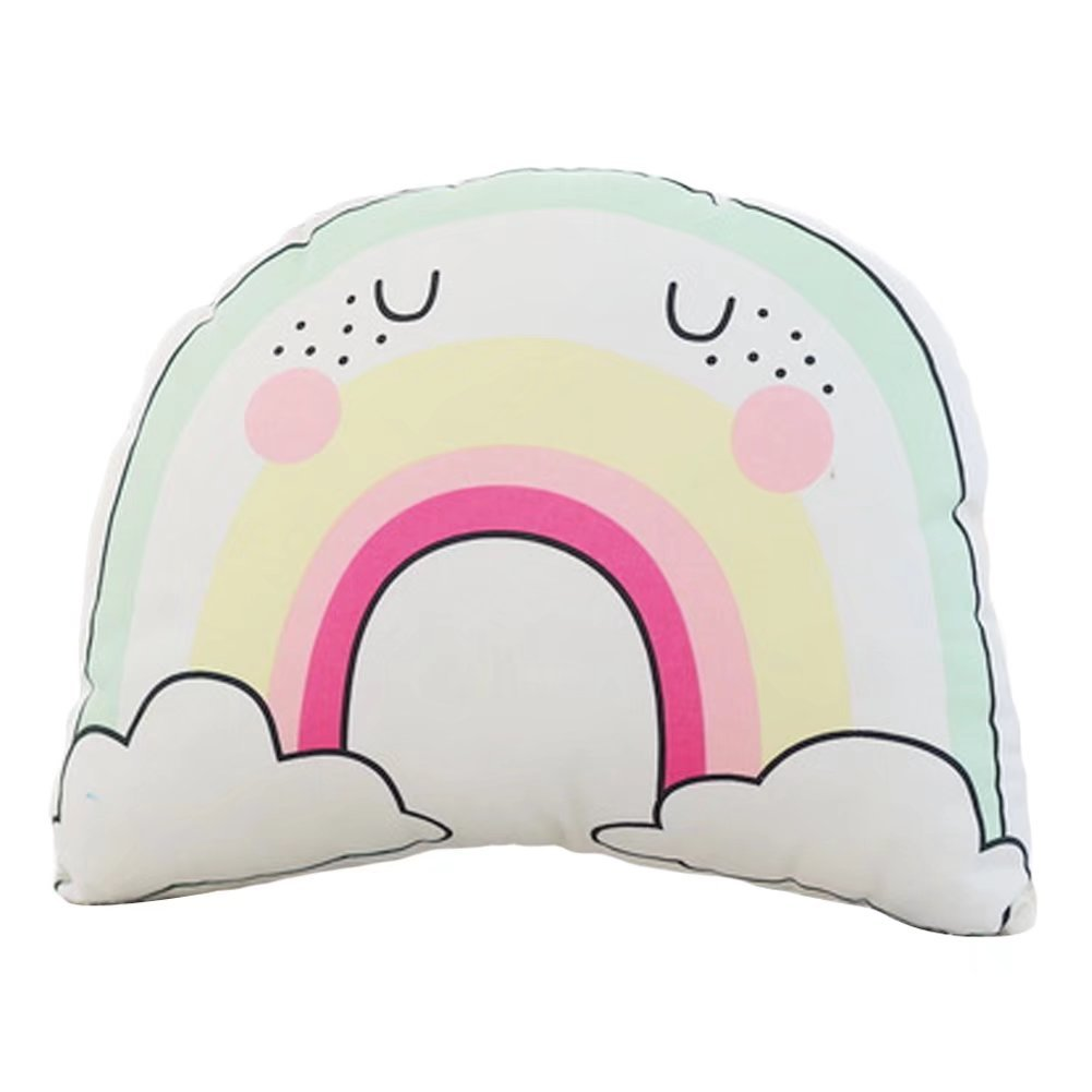 Finebaby Creative Cotton Unicorn Rainbow Throw Pillow Baby Cuddle Bedtime Comfort Toys Breathable Cosy Dolls