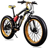 New Updated 21 Gears Yellow Black TP12 36v X 350 Watt Lithium Battery Electric Mountain Bicycle Shimano Snow Bike Electric Bike Fat Bike