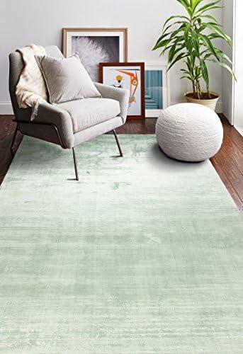 Bashian Radiance collection WZ hand loomed 100 banana silk area rug 7.9X9.9 Seafoam