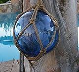 Japanese Glass Fishing Float Fish Net Buoy Tiki Decor by Mary B Decorative Art MB