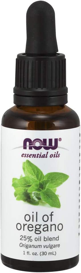 NOW Essential Oils, Oil of Oregano, 25% Blend of Pure Oregano Oil in Pure Olive Oil, Comforting Aromatherapy Scent, Steam Distilled, Vegan, Child Resistant Cap, 1-Ounce