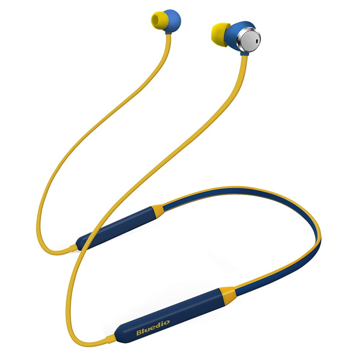 Bluedio TN Turbine Active Noise Cancelling Earbuds Neckband Earphones Bluetooth 4.2 Wireless Sports Headphones Headsets Magnetic Sweatproof Running Earbuds with Mic Magnetic Design Blue