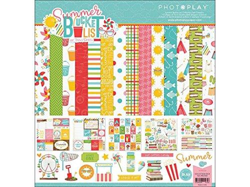 Photoplay Paper Photo Play Summer Bucket List Collection Pk 12x12 Bucketlist Pack -
