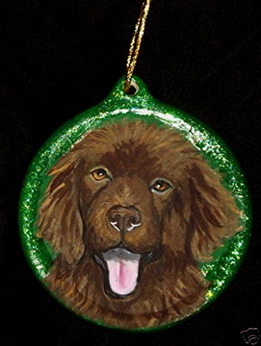 Newfoundland Dog Gift Christmas Ornament Custom Hand ()