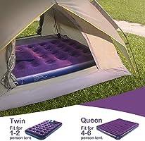 Amazon.com: Olarhike - Colchón de aire doble con bomba ...