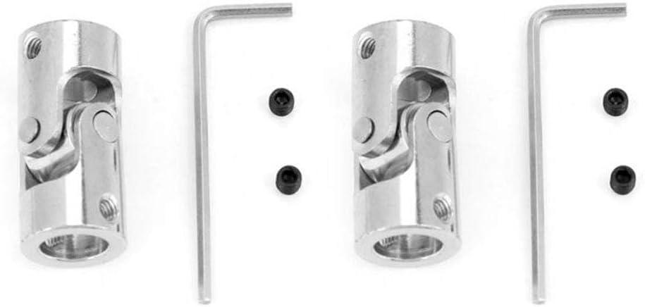 2 2mm Kardangelenke Antrieb f/ür Handgebrauch Universal Gelenk Kupplung Schaft Motor Anschluss-Kupplung mit mit-Inbusschl/üssel Schrauben
