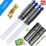 LifeHelper 【2018 Upgraded】 Universal Vacuum Dusty Brush Dust Cleaner Accessories Tubes, Tiny Cleaning Sweeper VAC Attachment Remover Tool, Compatible with Dyson Series