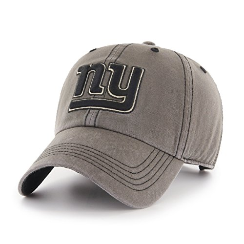 Giants York Visor New Logo - NFL New York Giants Deck Hand OTS Challenger Adjustable Hat, Charcoal, One Size
