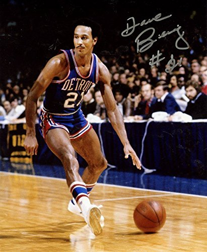 DAVE BING DETROIT PISTONS DRIBBLING SIGNED AUTOGRAPHED 8X10 PHOTO W/COA by ALL STAR CARDS & COLLECTIBLES