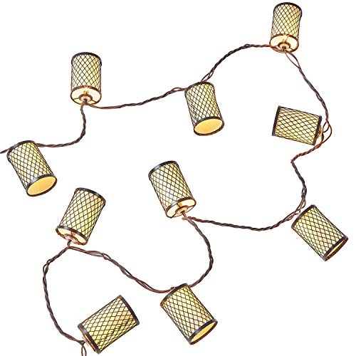 NIOSTA Decorative Lantern String Lights 10 Lantern Fairy Lights 9 Ft Plug in Ambience Decorative Haning Lights for Indoor Outdoor Party Patio Wedding Bedroom Christmas Tree ()