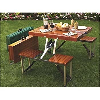 this item tailgate folding wooden picnic table - Wood Picnic Table