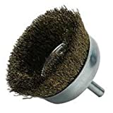 Vermont American 16784 3-Inch Fine Wire Cup Brush with 1/4-Inch Hex Shank for Drill