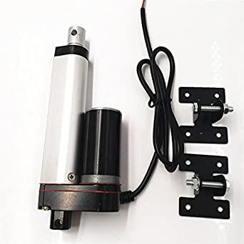 "Heavy Duty 220lb Pound Electric Linear Actuator 1/"" Inch Stroke Length DC 24V CNC"