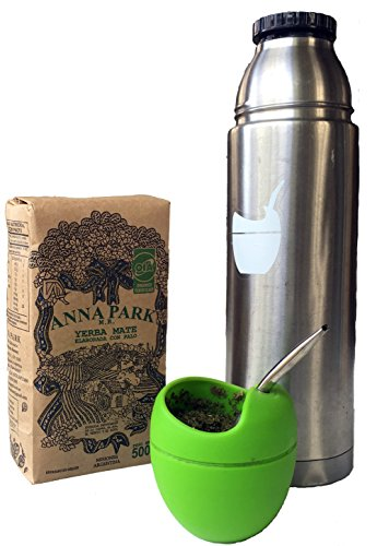"Anna Park Yerba Mate - Organic - 1.1 LB / 500 g / 17.6 oz 8 A TRADITIONAL TEA: Yerba Mate has been used for centuries in South America as a natural stimulant to support mental clarity and focus. Described as offering ""the strength of coffee, benefits of tea, and the euphoria of chocolate"". Anna Park Yerba Mate is a powerful and all natural, appetite curbing tea that provides energy, improves digestion and boosts your immune system. HIGHEST QUALITY AND PURITY: Our Yerba Mate is certified 100% organic, naturally gluten free and vegan without any artificial flavors or colors. Sustainably farmed, sourced from Argentina and naturally caffeinated. This exquisite Yerba Mate is produced over 3 years, protecting ecological reserve and environment. VITAMIN & MINERALS PACKED: Anna Park Yerba Mate is rich in vitamins A, C, E, B1, B2, B3, B5, and B Complex. Also contains Calcium, Manganese, Iron, Selenium, Potassium, Magnesium, Silicon, Phosphorus. 15 Amino Acids, Fatty Acids, Chlorophyll, Flavonoids, Polyphenols, and traces minerals."