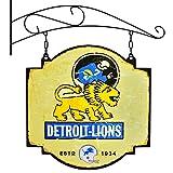 NFL 11229 Detroit Lions Tavern Sign, One Size, White
