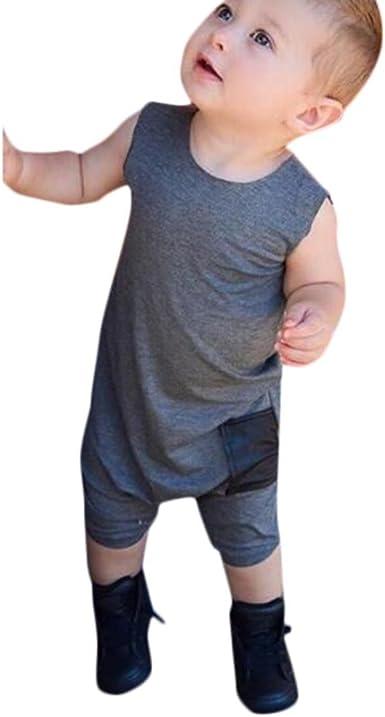 QinMM Mono de Verano para bebé niño con Bolsillo, Peleles ...