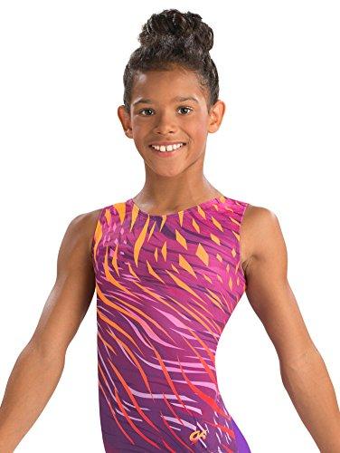 (GK Sassy Safari Gymnastics Leotard (Pink Purple & Orange) | Ballet Dance Athletic One-Piece for Women & Girls)