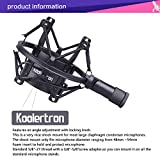 Koolertron Universal 50MM Microphone Shock Mount For 48MM-54mm Diameter Condenser Mic (Black)