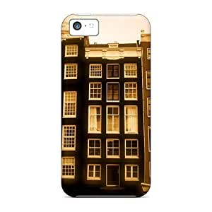 New Style Tpu 5c Protective Case Cover/ Iphone Case - Modern Venice In Sepia