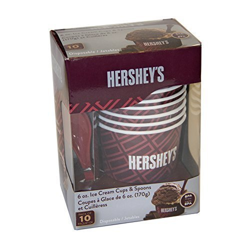 HERSHEY'S IC13895 Ice Cream Cups and Spoons (Discontinued by Manufacturer) West Bend