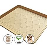 Easyology Premium Pet Food Tray - Dog Food Mat and Cat Food Mat with Non Skid Design - Best Pet Bowl Mat for Containing Spills - 17.5'' x 14''