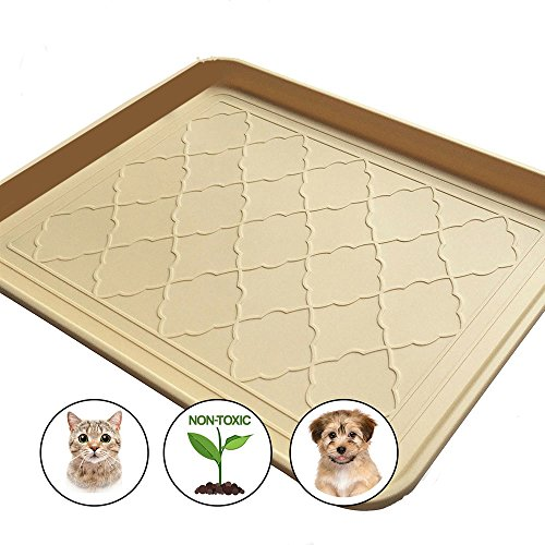Easyology Premium Pet Food Tray - Dog Food Mat And Cat Food Mat With Non Skid Design - Best Pet Bowl Mat For Containing Spills and as Pet Food Mat (Recycled Rubber Pet Placemat)